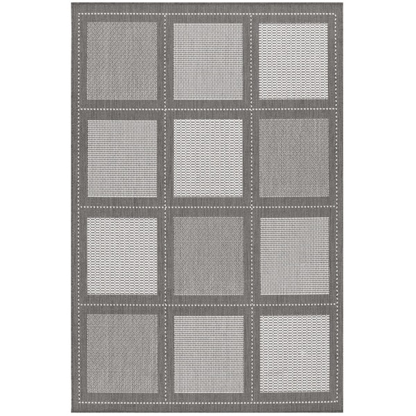 Recife Summit Grey and White Rug (8'6 x 13')