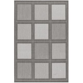 Recife Summit Grey and White Rug (7'6 x 10'9)