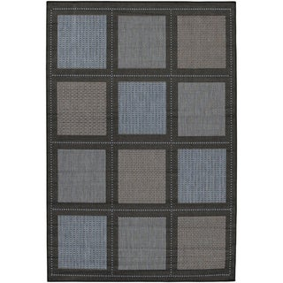 Recife Summit/ Blue Black Rug (8'6x13')