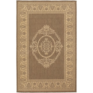 Recife Antique Medallion Natural/ Cocoa Rug (2' x 3'7)