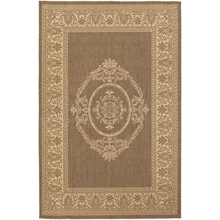Recife Antique Medallion Natural/ Cocoa Rug (3'9 x 5'5)