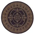Recife Antique Medallion Black/ Cocoa Rug (7'6 Round)