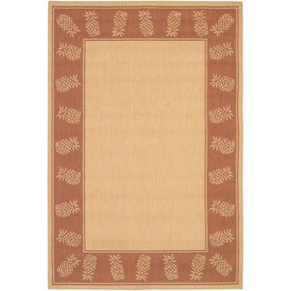 Recife Tropics/ Natural Terra Cotta Rug (2' x 3'7)