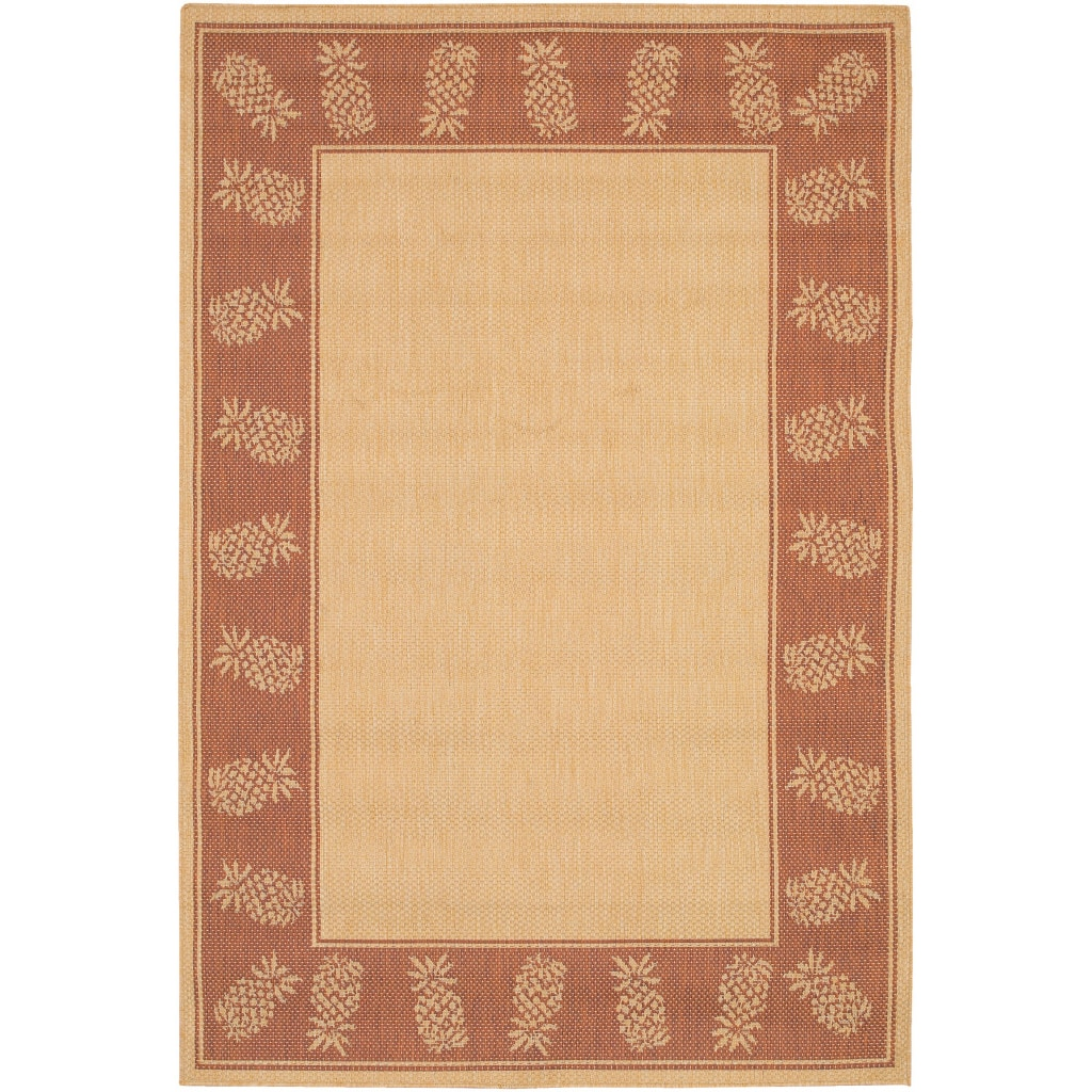 COURISTAN INC Recife Tropics/ Natural Terra-Cotta Area Rug (5'3 x 7'6) at Sears.com