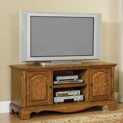 Country Casual Distressed Oak TV Stand