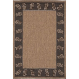 Cocoa/ Black Recife Rug (5'3 x 7'6)
