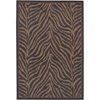 Black/ Cocoa Zebra Recife Rug (2' x 3'7)