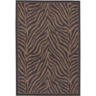 Recife Zebra Black Cocoa Rug (3'9 x 5'5)