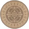 Recife Antique Medallion Natural Cocoa Rug (8'6 Round)