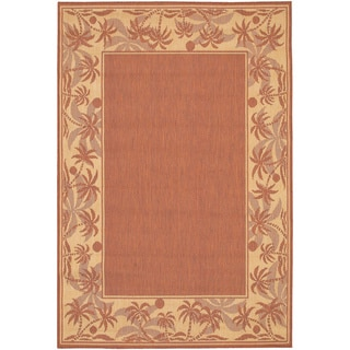 Recife Island Retreat Terra Cotta Natural Rug (5'10 x 9'2)