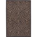 Recife Zebra Black Cocoa Rug (7'6 x 10'9)