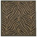 Recife Zebra Black Cocoa Square Rug (8'6 x 8'6)