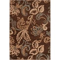ChocoFlowers Caramel Contemporary Rug (5'3 x 7'6)