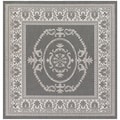 Grey/ White Medallion Recife Rug (8'6 Square)