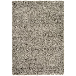 Soft Shag Contemporary Solid Grey Area Rug (5' x 7')