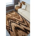 Meticulously Woven Tan Chevron Contemporary Caramel Area Rug (5' x 7')