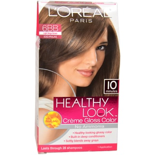 L'Oreal Healthy Look Creme Gloss Color # 6BB Light Beige Brown Hair Color