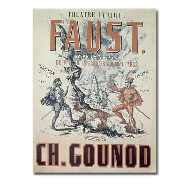 'Faust Opera 1875' Canvas Art