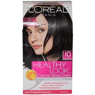L'Oreal Healthy Look Creme Gloss Color # 2 Black Hair Color