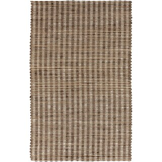 Hand-Woven Jute Stripe Coffee Bean Natural Fiber Rug (5' x 8')