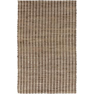 Hand-Woven Jute Stripe Coffee Bean Natural Fiber Rug (5' x 8')