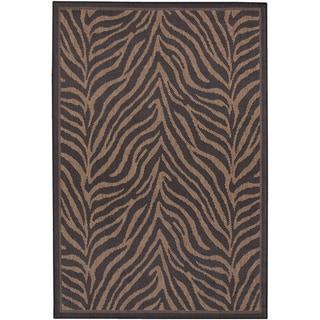 Recife Zebra Black/ Cocoa Rug Runner Rug (2'3 x 7'10)
