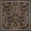 Recife Garden Cottage Black/ Cocoa Rug (7'6 x 7'6)
