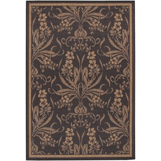 Recife Garden Cottage Black/ Cocoa Rug (7'6 x 10'9)