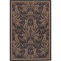 Recife Garden Cottage Black/ Cocoa Runner Rug (2'3 x 11'9)