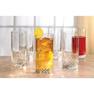Style Setter Rocks Highball Glasses (Set of 6)