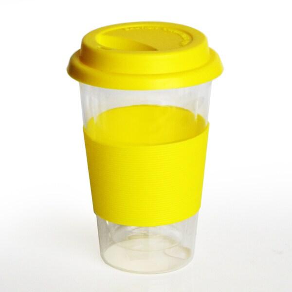 Style Setter Yellow Glass Travel Mug