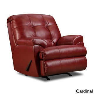 Simmons Bonded Leather Reclining Rocker Chair