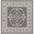 Recife Antique Medallion Grey/ White Rug (7'6 x 7'6)