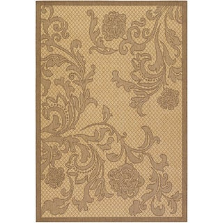 Recife Rose Lattice Natural/ Cocoa Rug (3'9 x 5'5)