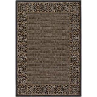 Recife Summer Chimes Cocoa/ Black Rug (7'6 x 10'9)