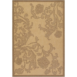 Recife Rose Lattice Natural/ Cocoa Rug (7'6 x 10'9)