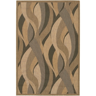 Recife Seagrass Natural and Black Area Rug (3'9 x 5'5)