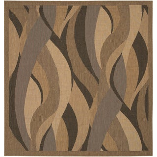 Recife Seagrass Natural and Black Area Rug (8'6 x 8'6)