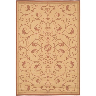 Recife Veranda Natural and Terra-Cotta Area Rug (2' x 3'7)