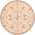 Recife Veranda Natural and Terra-Cotta Area Rug (7&#39;6 Round)