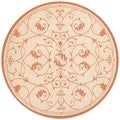 Recife Veranda Natural and Terra-Cotta Area Rug (8'6 Round)