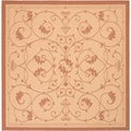 Recife Veranda Natural and Terra-Cotta Area Rug (8'6 x 8'6)