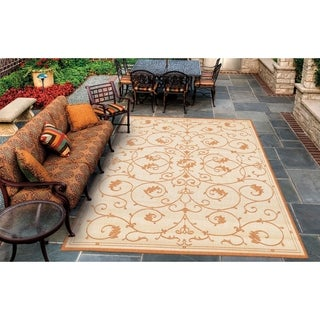 Recife Veranda Natural and Terra-Cotta Area Rug (8'6 x 13')