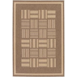 Recife Bistro Cocoa/ Natural Rug (2' x 3'7')'