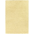 Soft Shag Contemporary Solid Ivory Rug (5' x 7')