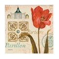 Fabrice de Villeneuve 'Pavillion De Jardin' Limited Edtion Giclee Canvas Art