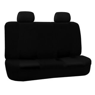 FH Group Black Cloth Universal Split Bench Cover