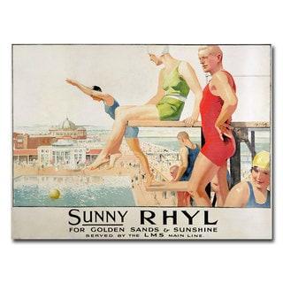 Septimus Scott 'Sunny Rhyl' Canvas Art