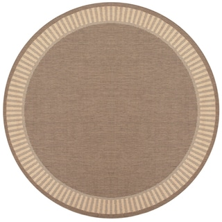Recife Wicker Stitch Cocoa/ Natural Rug (8'6 Round)