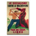'Socialism Against Bolshevism for a Free Europe' Canvas Art
